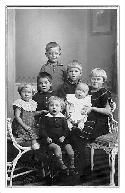 Hans Hansen og Maren Hansens børn ca. 1926